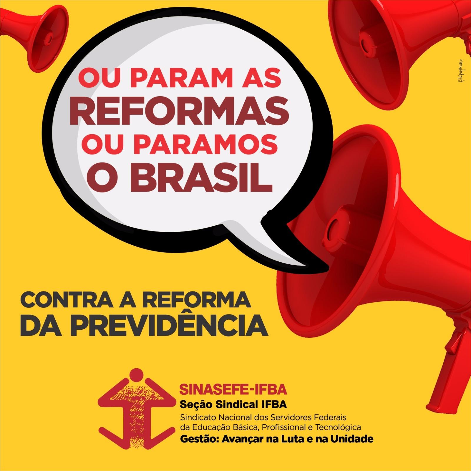 Contra a Reforma da Previdência