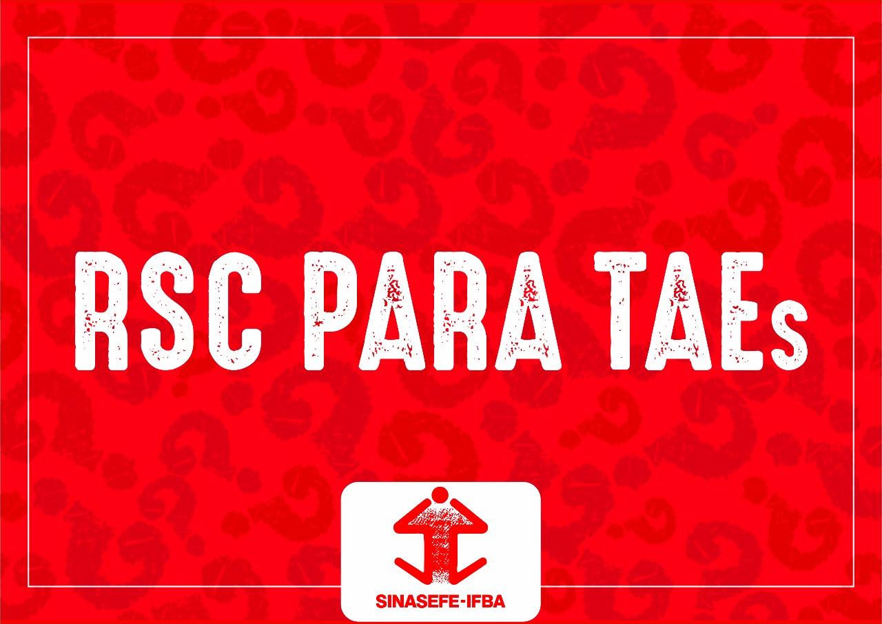 RSC para TAEs