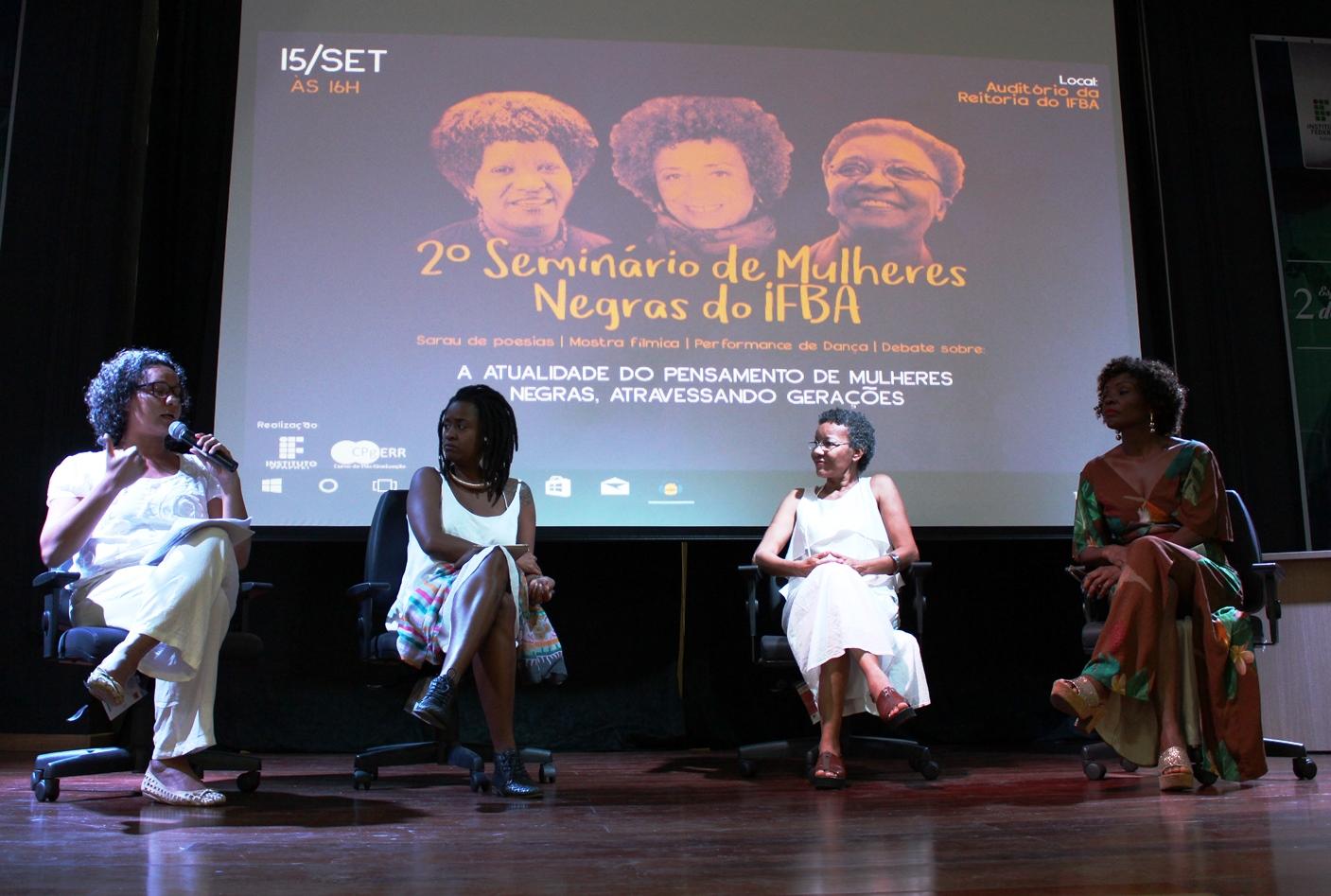 encontro mulheres negras no ifba