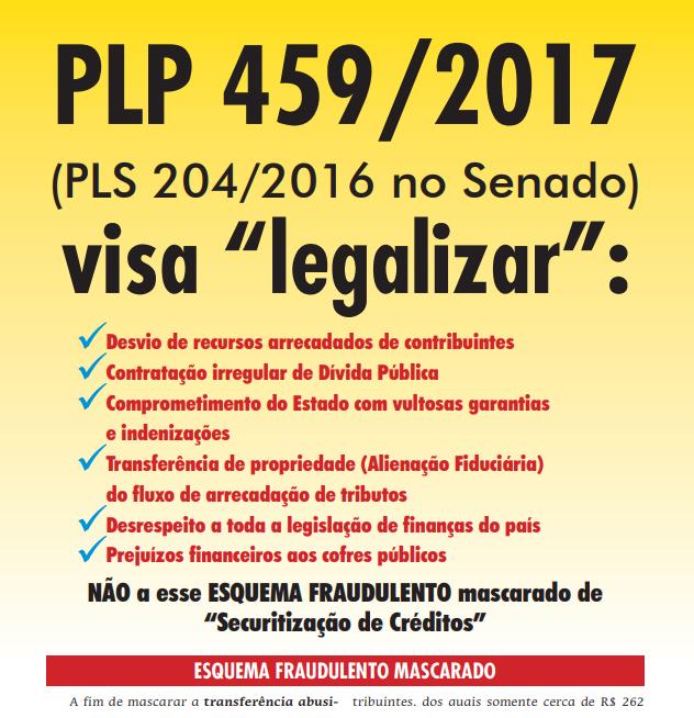 folheto PLP 459 2017